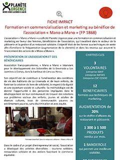 Formation en commercialisation et marketing au Pérou