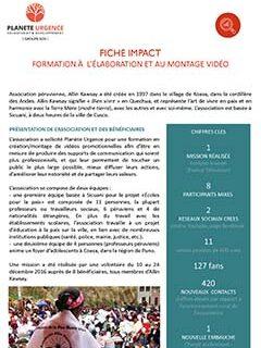 Formation au montage de vidéo au Pérou