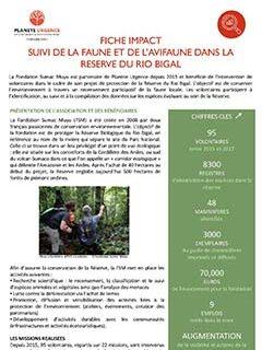 Suivi de la faune et de l'avifaune dans la réserve de Rio Bigal