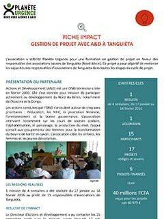 Gestion de Projet avec A&D à Tanguiéta au Bénin